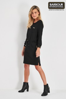 Barbour® International Black Island Tie Waist Dress