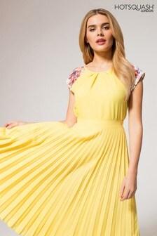HotSquash Yellow Floral Print Sleeve Top
