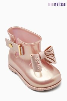 Mini Melissa Rose Gold Sugar Rain Fairy Welly