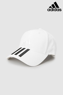 adidas Kids White 3 Stripe Cap