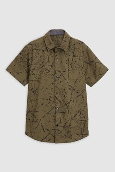 Short Sleeve Splat Print Shirt (3-16yrs)