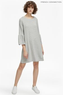 French Connection Grey Paros Sudan Flared Dress
