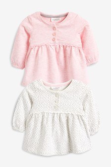 Lace Trim T-Shirts Two Pack (0mths-2yrs)