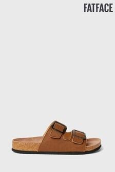 FatFace Tan Meldon Double Strap Sandal