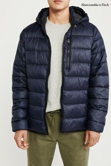 Abercrombie & Fitch Navy Padded Jacket