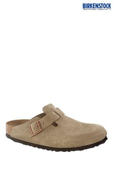 Birkenstock Taupe Boston Clog Sandals