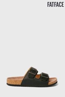 סנדלים עם רצועה כפולה של FatFace דגם Meldon בשחור