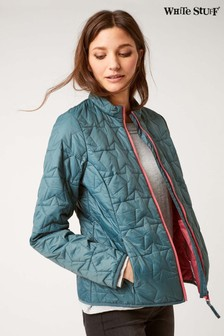 White Stuff Green Dallington Star Quilted Jacket