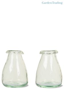 Set of 2 Recycled Vases