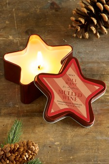 Mulled Wine Star Shaped Tin Candle