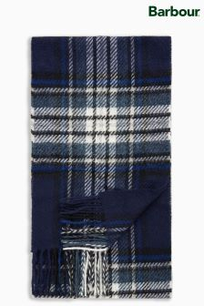 Barbour® Navy Lowerfell Check Scarf