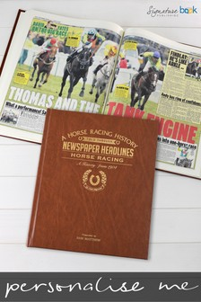 Personalised Horse Racing Newspaper Book by Signature Book Publishing