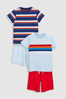 Stripe Pyjamas Two Pack (3-16yrs)