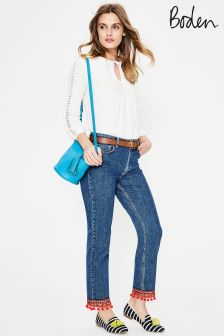 Boden Mid Vintage With Trim Cambridge Ankle Skimmer Jean