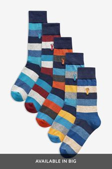 Cushioned Sole Socks Five Pack