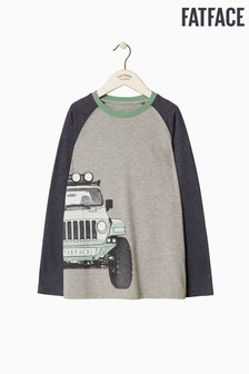 FatFace Grey Truck Graphic Tee