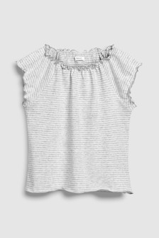 Frill Edge Short Sleeve T-Shirt (3-16yrs)