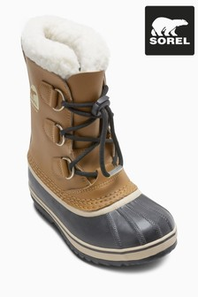 Sorel® Brown Youth Caribou Lace-Up Snow Boot