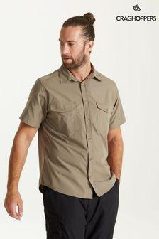 Craghoppers Grey Kiwi Short Sleeve Shirt
