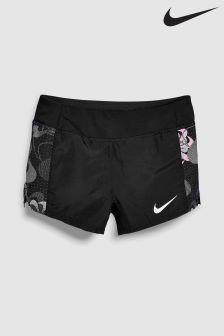 Nike Black Printed Triumph Short