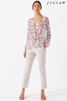 Jigsaw Pink Portofino Trouser