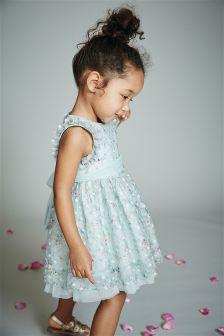Праздничное кружевное платье с цветочным узором (3 мес.-6 лет)