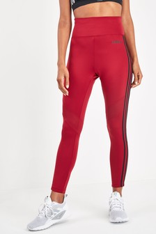 adidas D2M Maroon 3 Stripe 7/8 Leggings