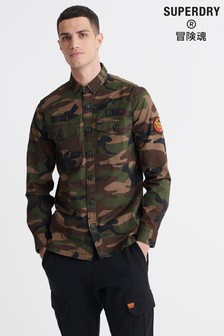 Superdry Core Military Patched Long Sleeved Shirt