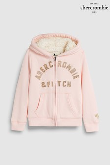 Abercrombie & Fitch Pink Logo Hoody