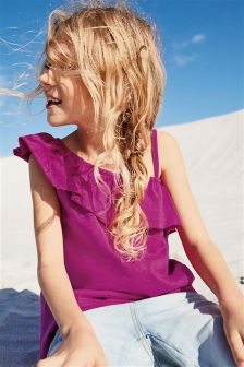 Ruffle Shoulder Top (3-16yrs)