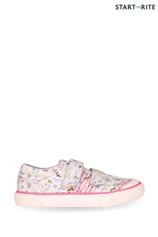 Start-Rite Meadow Cream Floral Canvas Shoes