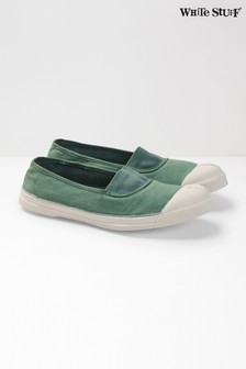 White Stuff Green Bensimon Pump