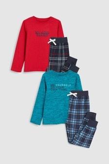 Check Pyjamas Two Pack (3-16yrs)