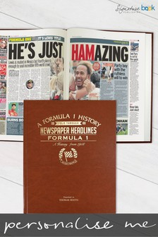 Personalised Formula One Newspaper Book by Signature Book Publishing