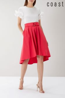 Coast Pink Gabbi Belted Skirt