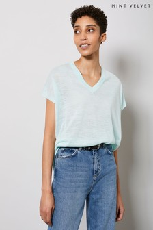 Mint Velvet Green V-Neck Knitted Top