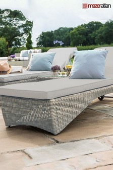 Oxford Grey Sunlounger by Maze Rattan