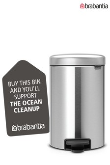 Brabantia® NewIcon Finger Print Proof Matt Steel 12L Pedal Bin