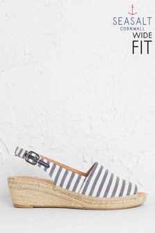 Seasalt Blue Syllan Espadrille Wide Fit