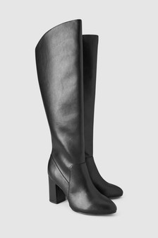 Knee High Feature Heel Boots
