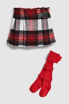 Check Skirt And Tights Set (3mths-6yrs)