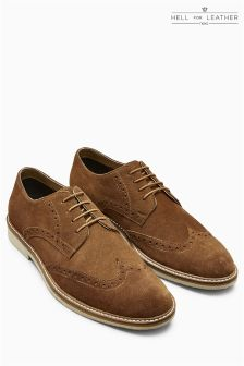 Suede Brogue Derby