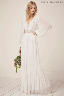 French Connection White Cari Bridal Maxi Dress