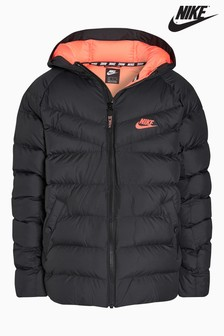 Nike Black and Pink Padded Jacket
