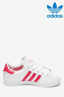 adidas Originals White/Pink Coastar Junior Trainers