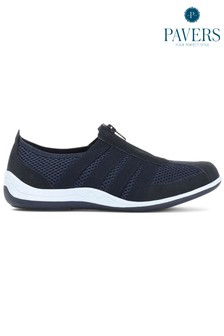Pavers Blue Ladies Casual Zip Up Trainers