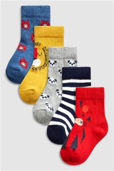 Bright Character Socks Five Pack (Younger)