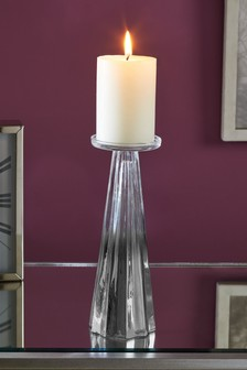 Faceted Glass Candle Sticks