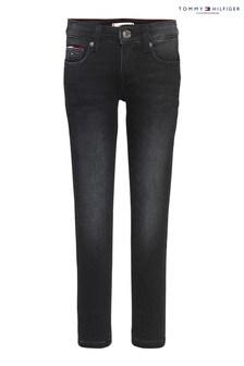 Tommy Hilfiger Black Nora Skinny Brushed Jeans