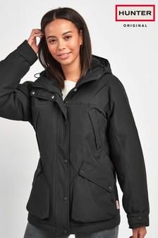 Hunter Womens Black Original Insulated Field Jacket